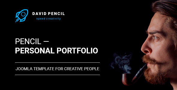 Pencil — Personal Portfolio and One Page Resume, Responsive Joomla Template